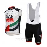 2017 Gilet Antivento UAE Bianco