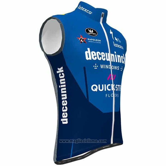 2021 Gilet Antivento Deceuninck Quick Step Blu